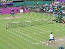 Novak Djokovic and Jo-Wilfried Tsonga Stock Photos