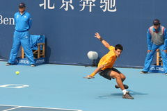 Novak Djokovic op Open China Stock Afbeeldingen