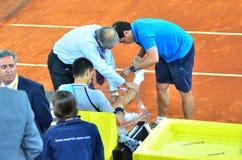 Novak Djokovic ranił Obraz Royalty Free