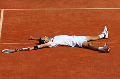 Novak Djokovic (SRB) bei Roland Garros 2011 Stockfoto
