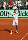 Novak Djokovic (SRB) at Roland Garros 2011 Royalty Free Stock Photos