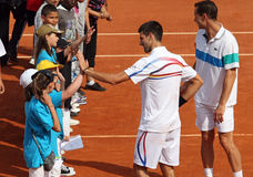 Novak Djokovic (SRB) at Roland Garros 2011 Stock Image