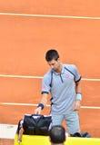 Novak Djovovic przy ATP Mutua Otwarty Madryt Obrazy Royalty Free