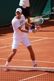 Novak Nole Djokovic stop-volley Stock Images