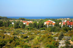 Novalja island Pag panorama, Croatia, Dalmatia Stock Photo
