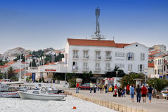 Novalja miasto na wyspie Pag w Dalmatia, Chorwacja Obrazy Stock