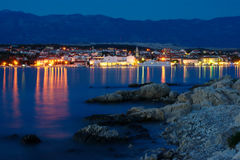 Novalja by night Royalty Free Stock Photos
