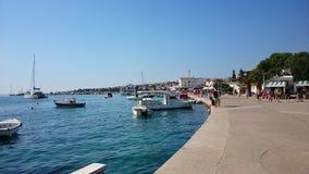 Novalja. Obala Adriatic stock photo