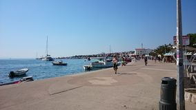 Novalja. Obala Adriatic stock photos