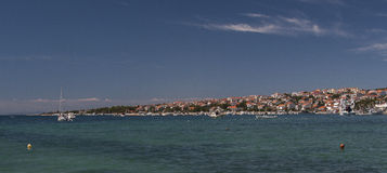 Novalja. Is a town in the north of the island of Pag in the Croatian part of Adriatic Sea Royalty Free Stock Photos