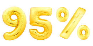 Novantacinque 95 per cento dorati Immagine Stock
