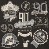 Novantesima raccolta di anniversario di stile d'annata Immagini Stock
