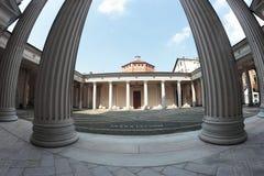 Novara baptistery, Italy Stock Photo