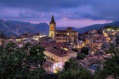 Free Novara Di Sicilia Mountain Village At Twilight, Sicily Royalty Free Stock Image - 166790596