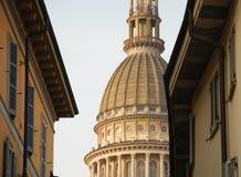 Novara, Italy. Cúpula de Antonelli. foto de stock royalty free