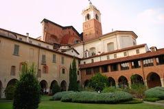Novara, Italy. Collegiata e domo imagem de stock royalty free