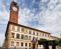 Novara, Piedmont - Italy. Historic palazzo del governo in city center royalty free stock photos