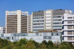 Novartis byggnader i Baseln, Schweiz Royaltyfria Bilder