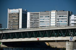 Novartis Hauptsitze in Basel, die Schweiz Lizenzfreies Stockbild