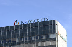 Novartis/logotipo Imagen de archivo