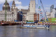 Novascotia clipper. Clipper Novascotia in Liverpool, at the end of the 07-08 round the world clipper race June 6th 2008 Royalty Free Stock Photos