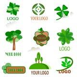 Nove ícones da natureza Fotos de Stock