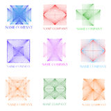 Nove ícones tridimensionais Fotografia de Stock