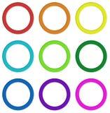 Nove anelli variopinti royalty illustrazione gratis