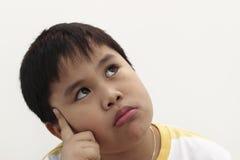 Nove anos de menino idoso Fotos de Stock