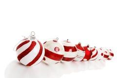 Nove Baubles do Natal fotografia de stock