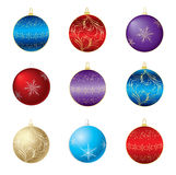 Nove bulbos decorativos diferentes Imagens de Stock Royalty Free
