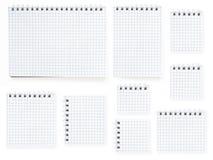 Nove cadernos Foto de Stock