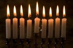Nove candele Immagini Stock