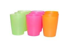 Nove copos vazios Fotografia de Stock