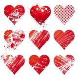 Nove coração, vetor Imagens de Stock Royalty Free