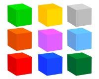 Nove cubi Fotografia Stock
