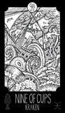 Nove delle tazze Kraken illustrazione vettoriale