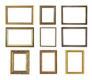 Nove frames de retrato Fotografia de Stock Royalty Free