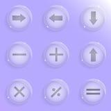 Nove icone di vetro Immagine Stock