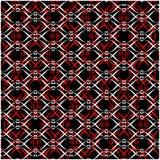 Nove laçado branco preto vermelho ilustração stock