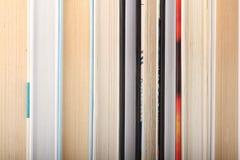 Nove libri in una riga Fotografia Stock Libera da Diritti