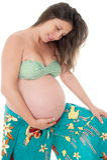 Nove meses de gravidez Imagens de Stock