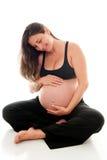 Nove mesi di gravidanza Fotografia Stock Libera da Diritti