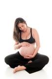 Nove mesi di gravidanza Immagini Stock Libere da Diritti