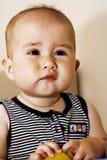 Nove-mesi felici di bambino Fotografia Stock Libera da Diritti
