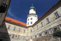 Nove Mesto nad Metuji chateau. The detail of chateau in Nove Mesto nad Metuji Stock Images
