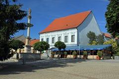 Nove mesto nad Vahom. The historic center of Nove mesto nad Vahom, Slovakia Stock Image