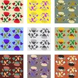 Nove modelli del papavero Fotografie Stock