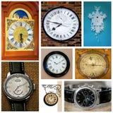 Nove orologi Fotografia Stock Libera da Diritti