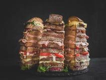 Nove panini di strati Fotografie Stock